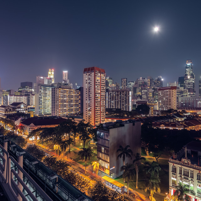 """City at Night"" stock image"