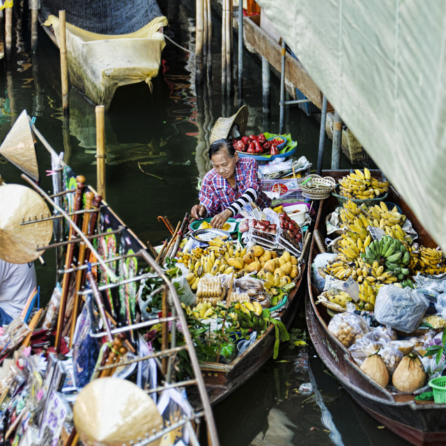 """Floating Market in Thailand"" stock image"