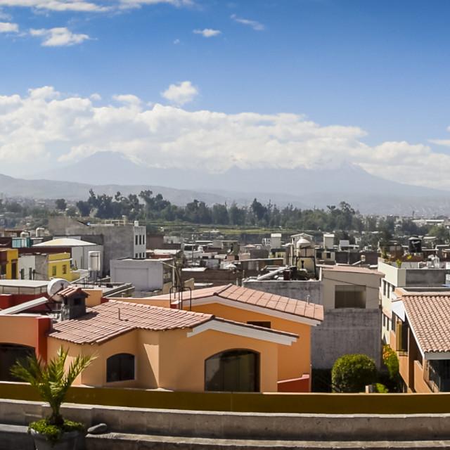 """""""Panoramic of Arequipa city in Peru"""" stock image"""