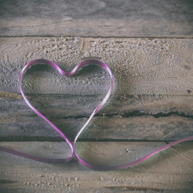"""Ribbon Heart"" stock image"