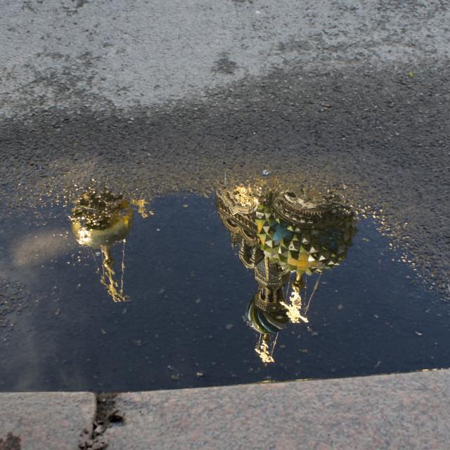 """Church Saint Petersburg reflection"" stock image"