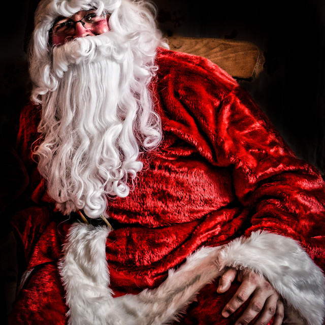 """Santa Claus Thinks About Christmas 2015"" stock image"