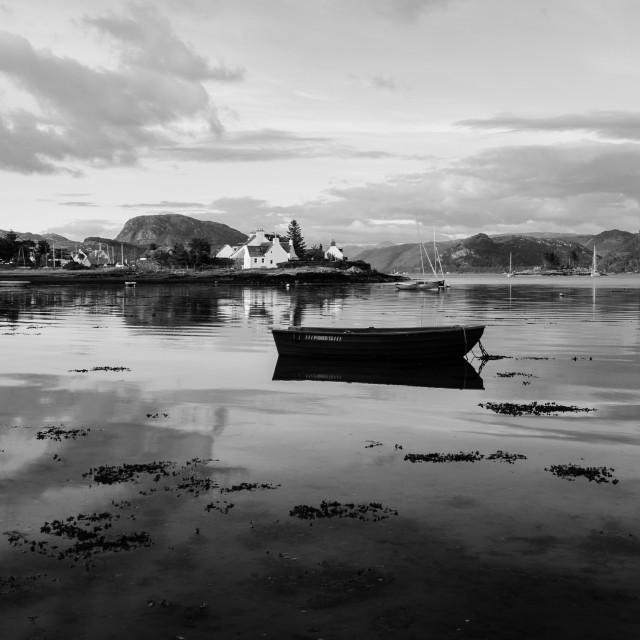 """Plockton boat"" stock image"
