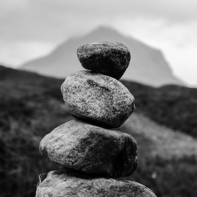 """Mini cairn"" stock image"