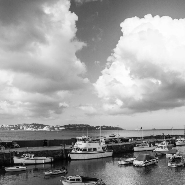"""Paignton Harbour"" stock image"
