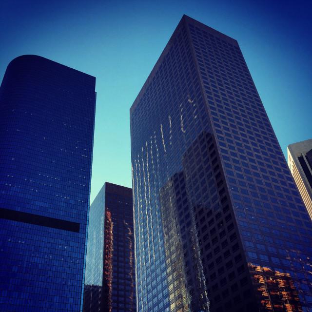"""""""Skyscraper Blue"""" stock image"""