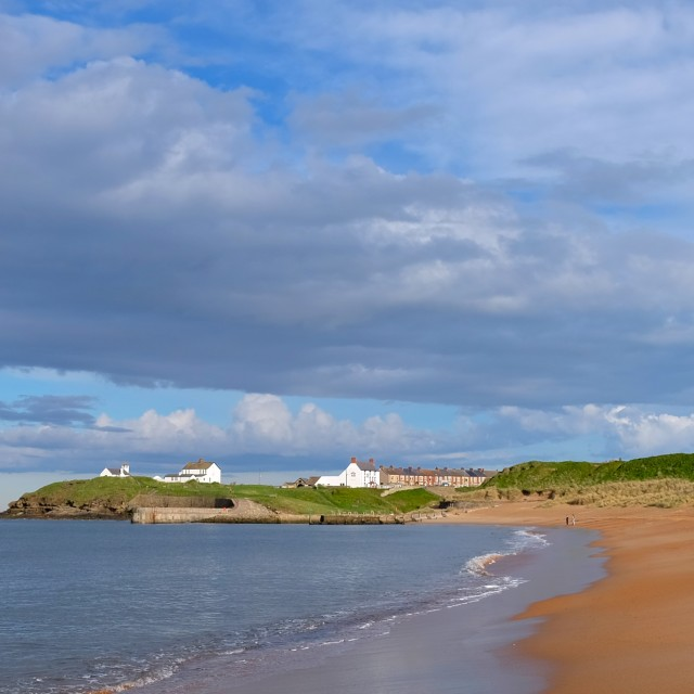 """Seaton Sluice in Northumberland"" stock image"