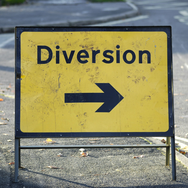 """diversion right"" stock image"