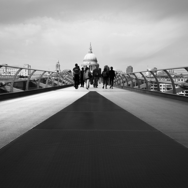 """Millennium Bridge & St Paul's"" stock image"