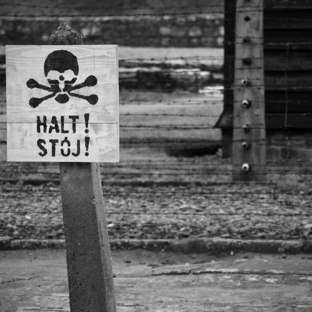 """Auschwitz."" stock image"