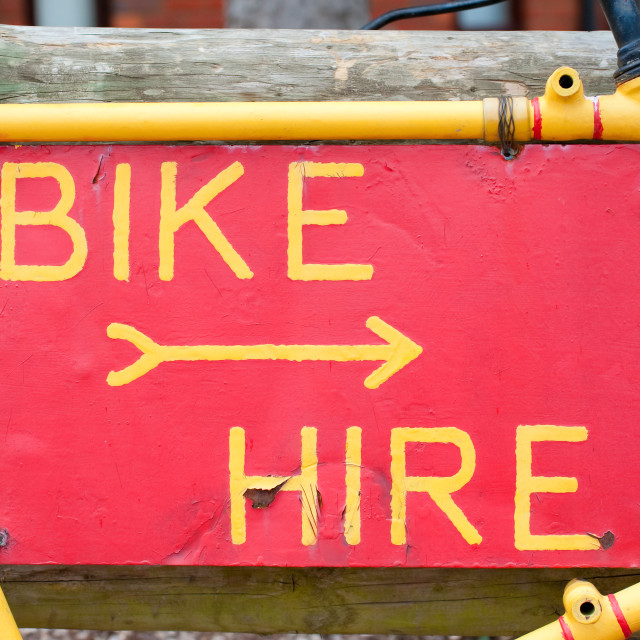 """bike hire"" stock image"
