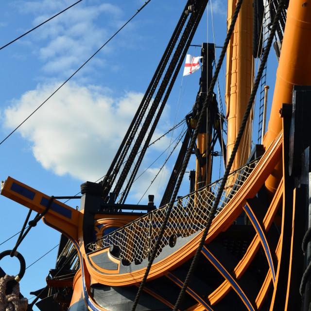 """HMS Victory"" stock image"