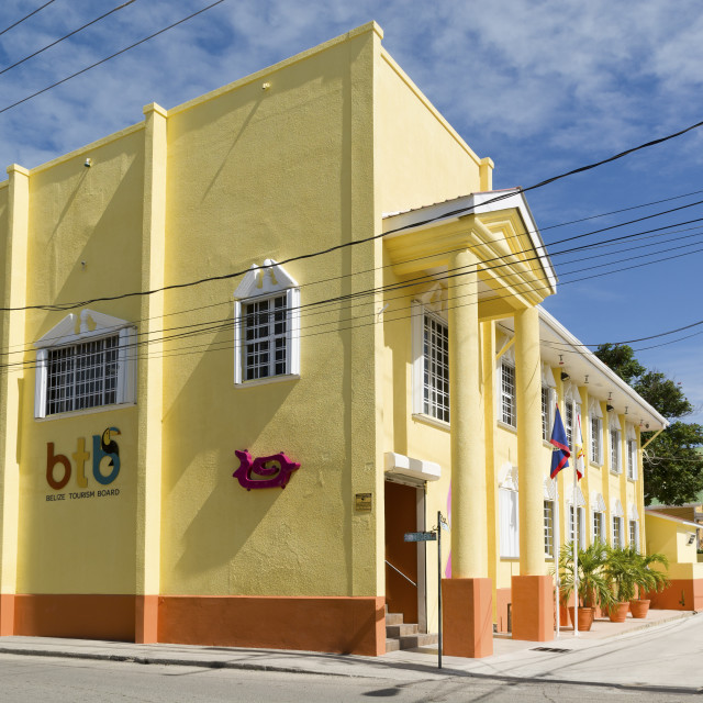 """""""Belize Tourism Board offices"""" stock image"""
