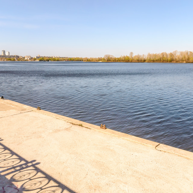 """""""Jetty on the Dnieper River"""" stock image"""