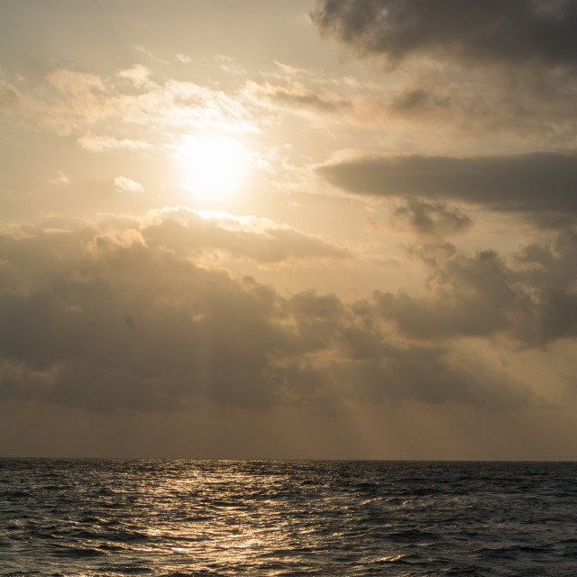 """""""Sunset over the Indian Ocean"""" stock image"""