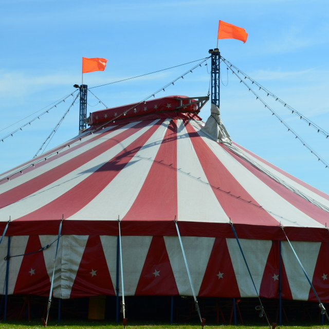 """Circus Big Top."" stock image"
