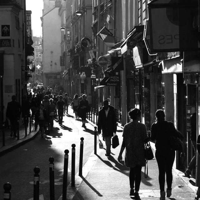 """""""Rue Saint-André des Arts"""" stock image"""