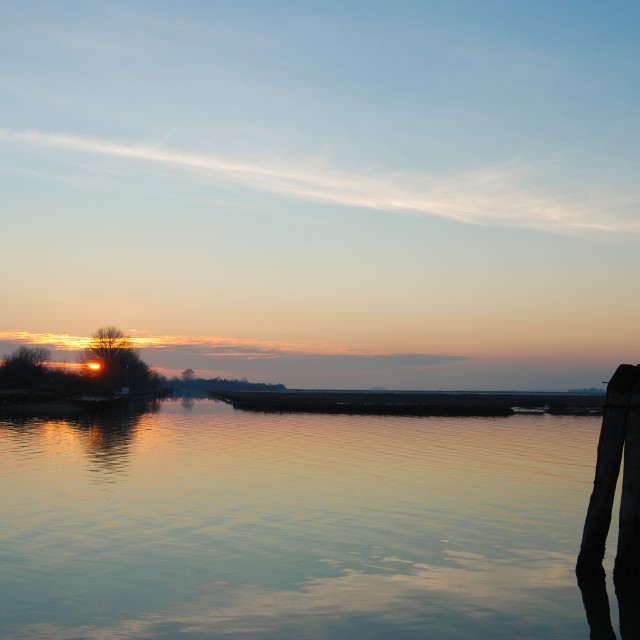 """Torcello Sunset"" stock image"