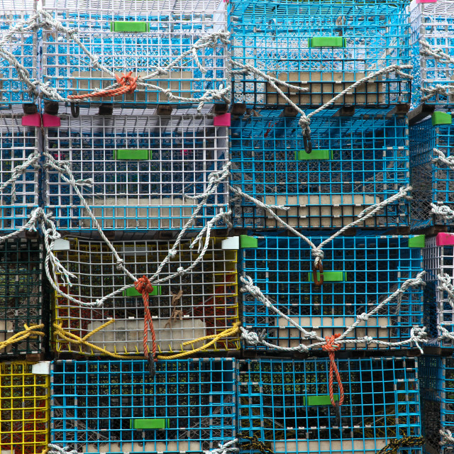 """Lobster trap background"" stock image"