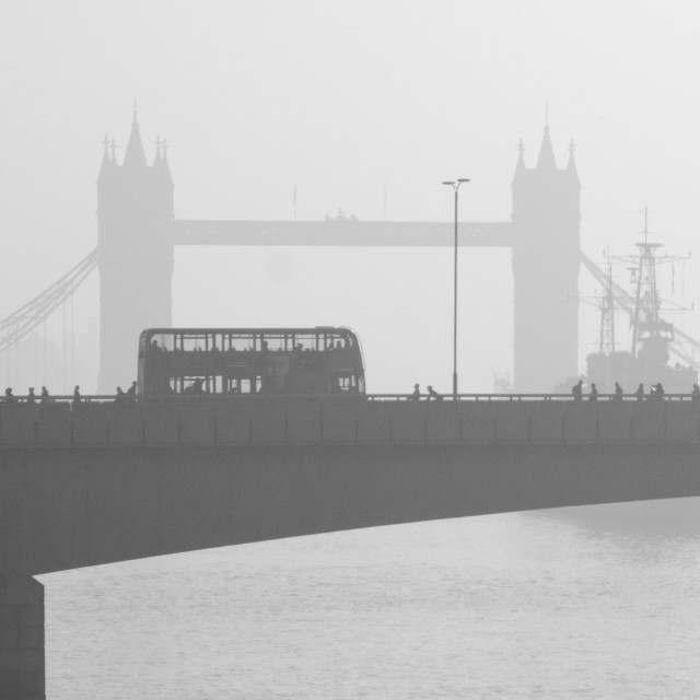 """London Bridge and Tower Bridge"" stock image"