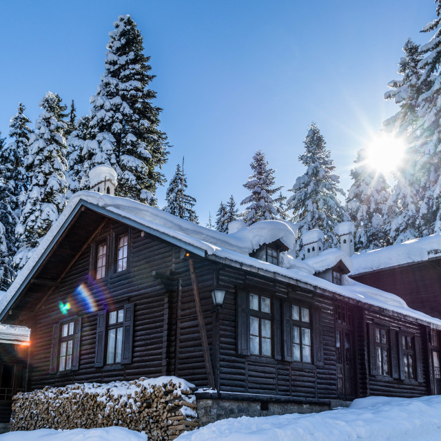 """Winter house"" stock image"
