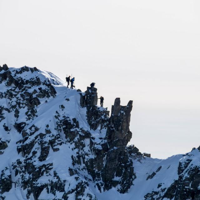 """Mountain climbing"" stock image"