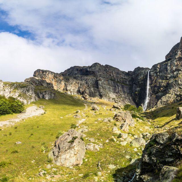 """""""Rayskoto Praskalo/Heavenly Spray panorama"""" stock image"""