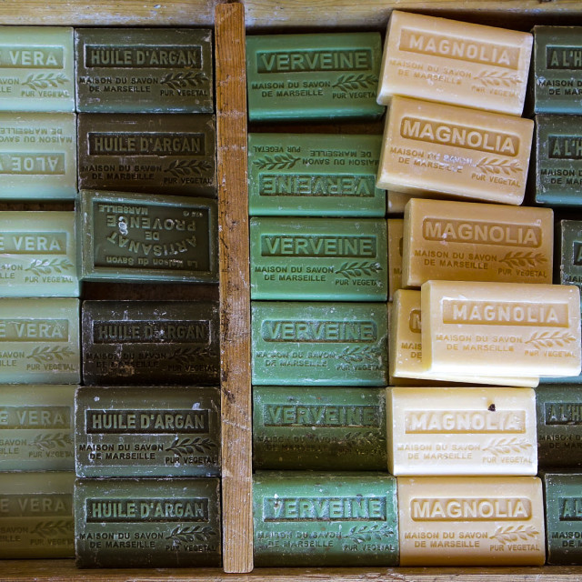 """""""Soap from Marseille"""" stock image"""