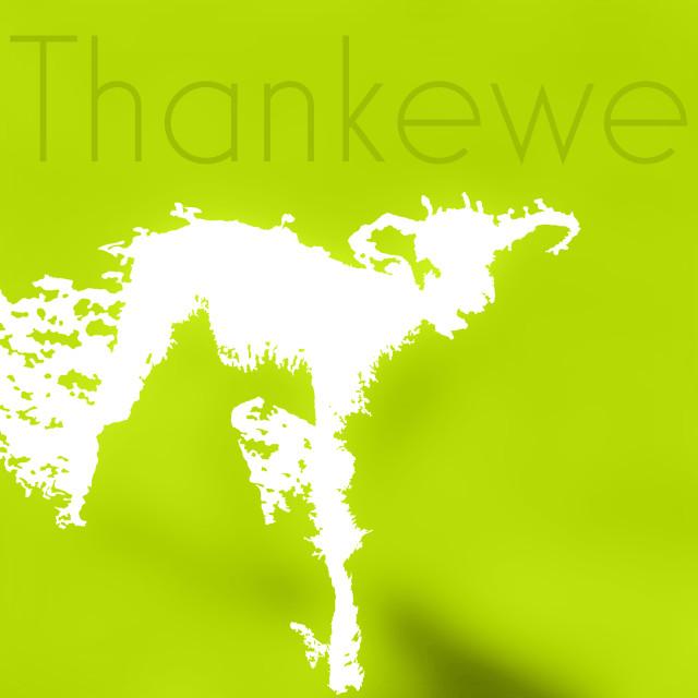 """Thank You Greeting Spring Lamb"" stock image"