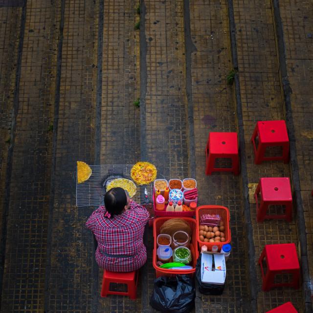 """Vietnamese pizza - delicious street food"" stock image"