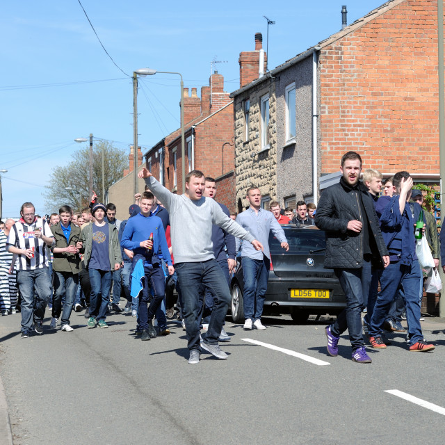"""""""Grimsby Town Football Fans"""" stock image"""