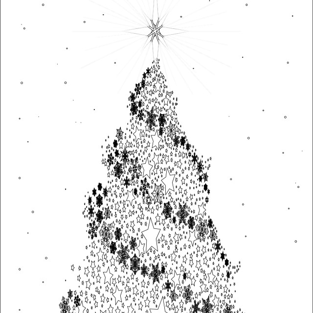 """White Christmas Tree"" stock image"