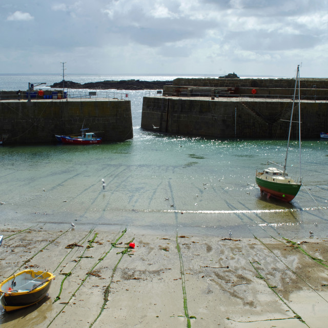 """""""Mousehole Harbour 2"""" stock image"""