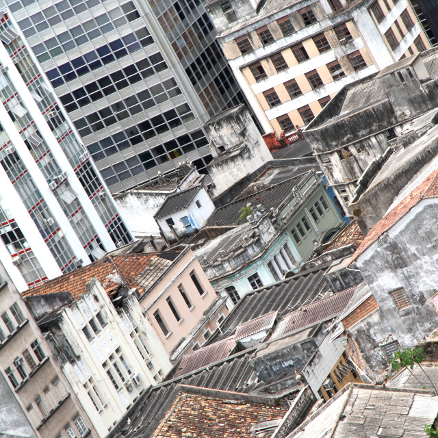 """Rundown Buildings in Salvador"" stock image"