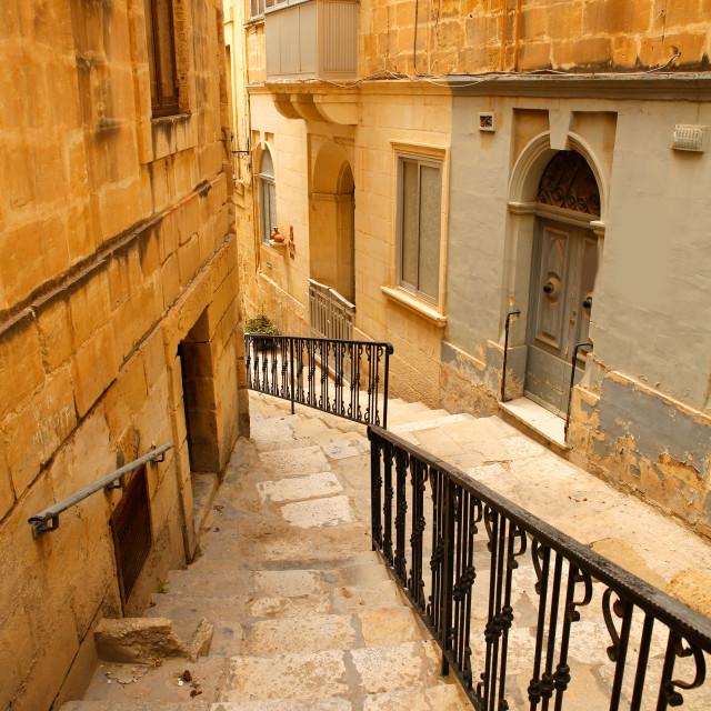 """""""Street in Birgu"""" stock image"""