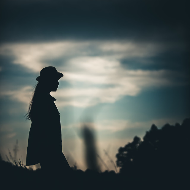 """Silhouette Girl"" stock image"