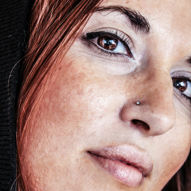 """""""Freckly"""" stock image"""