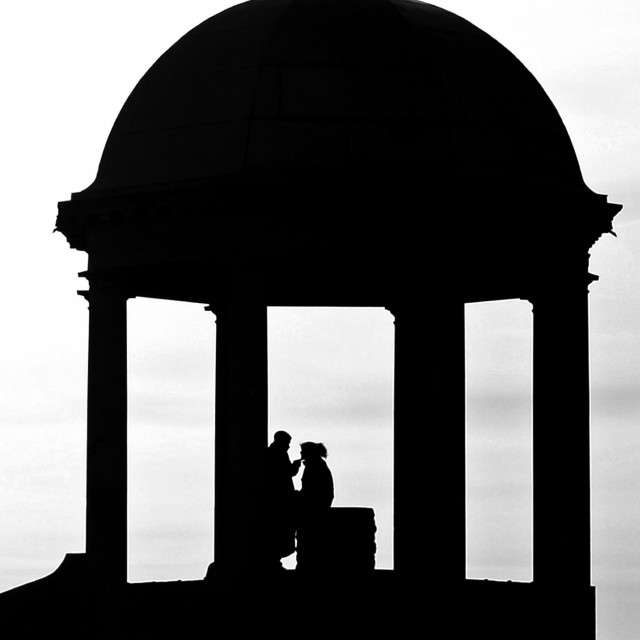 """""""2 lovers on Barr Beacon, Walsall"""" stock image"""