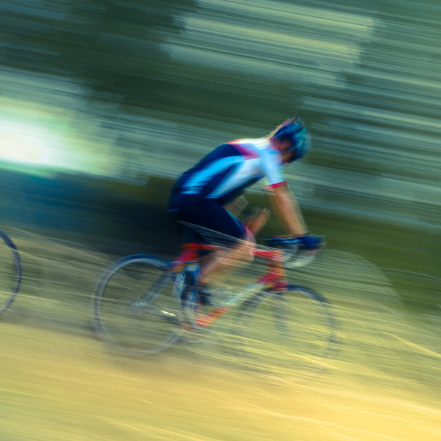 """Cycles in Motion"" stock image"
