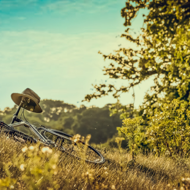 """Summer Bike & Hat"" stock image"