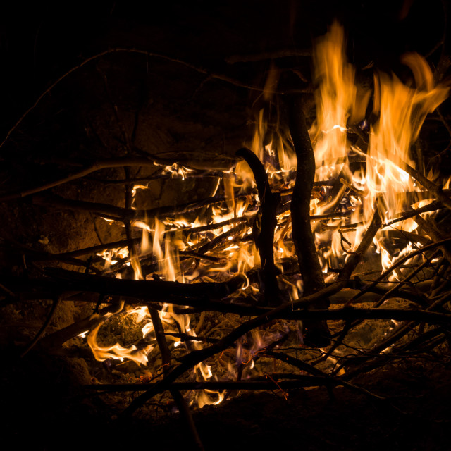 """Campfire from Above"" stock image"