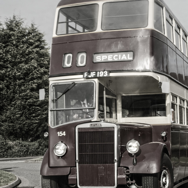 """British Leyland, Leicester City Bus"" stock image"