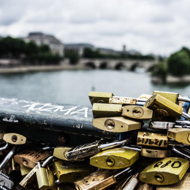 """Love Lock Bridge"" stock image"