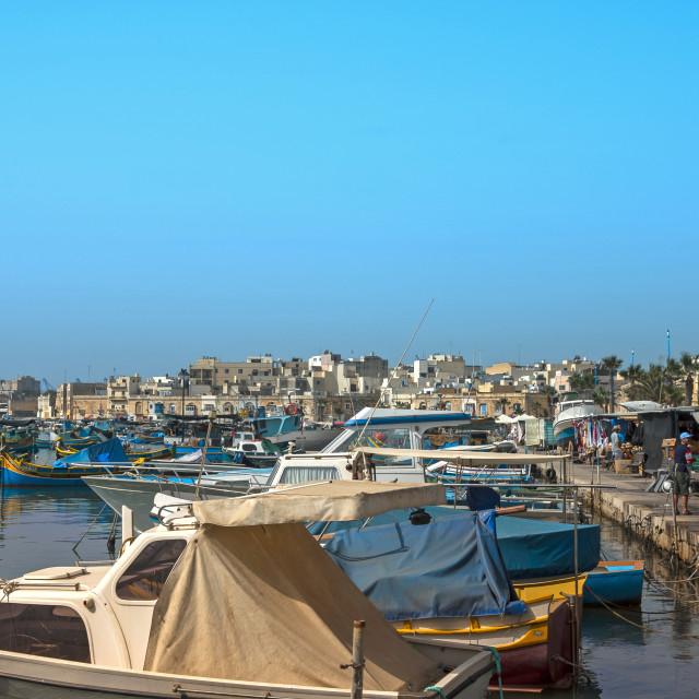 """Marsaxlokk fishing village"" stock image"