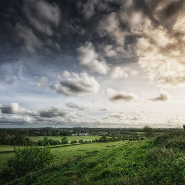 """Walking Above Salisbury"" stock image"