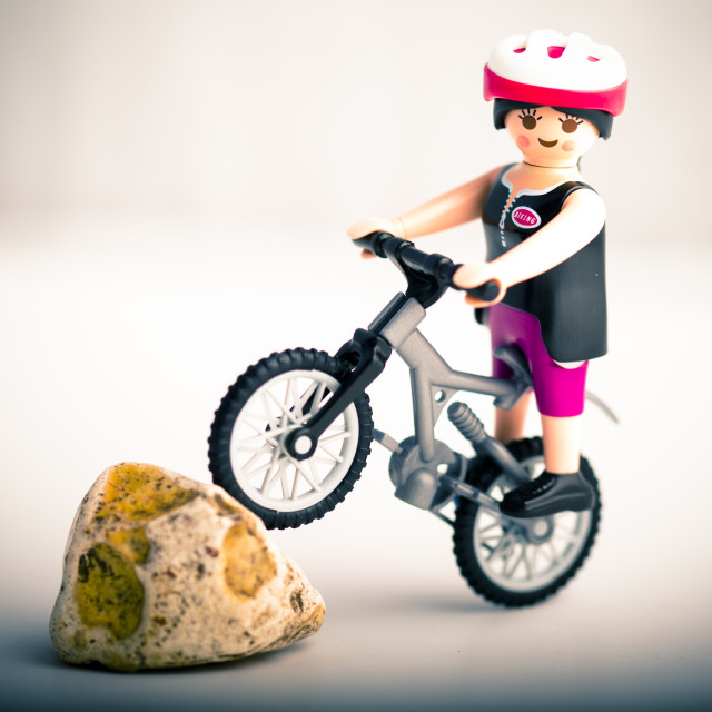 """Mountain Biker"" stock image"