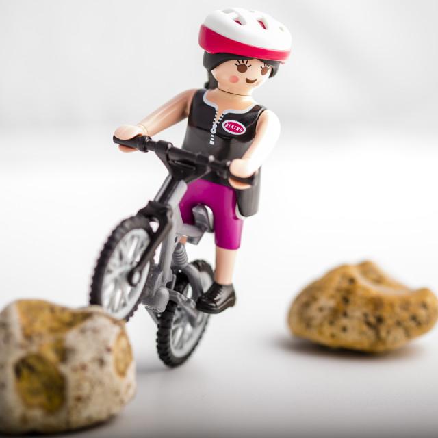 """Mountain Bike Rider"" stock image"