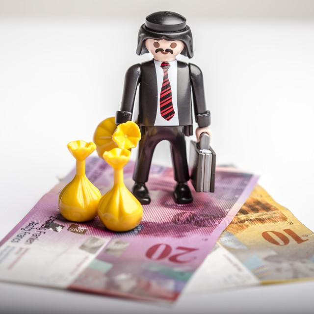 """Mafia hides money and gold"" stock image"