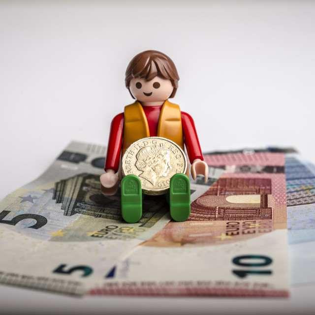 """""""Pound Sterling against Euro"""" stock image"""
