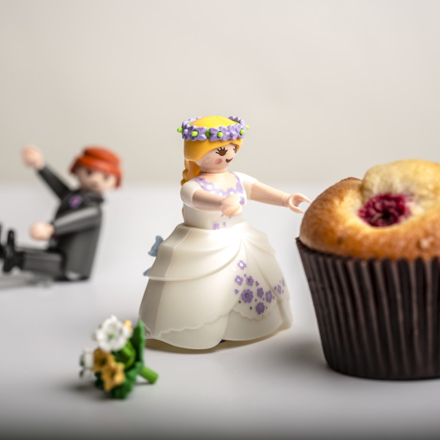 """""""Bride, Groom or a Muffin"""" stock image"""